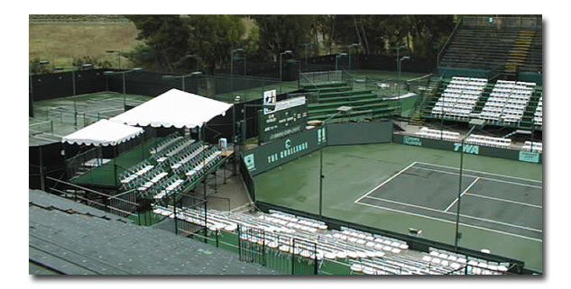 Chairs and Bleachers for Davis Cup Tennis