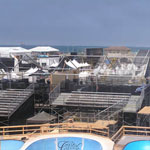 Bleachers, platforms, and stairs at Surfing Championship in Huntington Beach 2 of 8