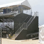 Bleachers, platforms, and stairs at Surfing Championship in Huntington Beach 5 of 8