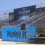 Bleachers, platforms, and stairs at Surfing Championship in Huntington Beach 6 of 8